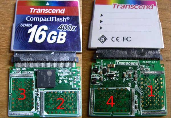 Восстановление данных с карты памяти CF Trancent 400x 16GB